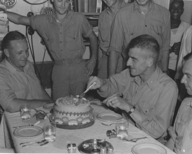 Photograph of Cake in Wardroom of USS Nautilus before Raid on Makin Island