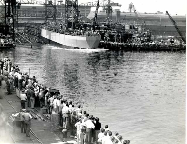 LST-301, The First LST at Boston Navy Yard