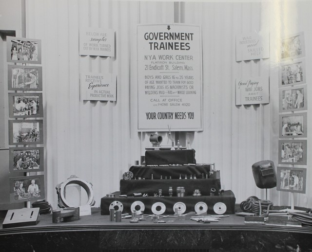 A National Youth Administration Work Center Display in Salem, Massachusetts