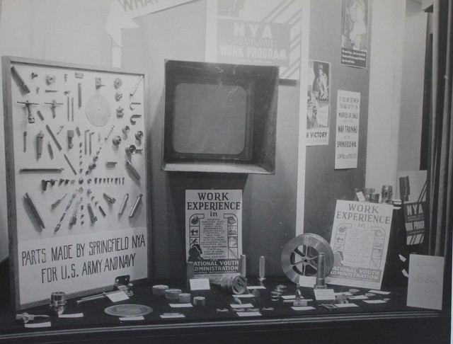A National Youth Administration Work Experience Display in Springfield, Massachusetts