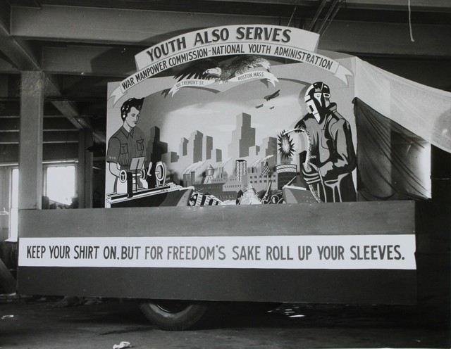 A War Manpower Commission and A National Youth Administration Float