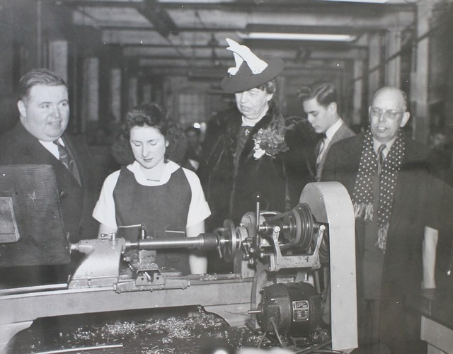 Eleanor Roosevelt Visits a National Youth Administration Project
