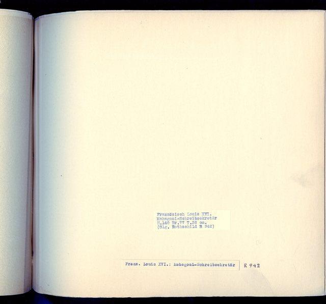 "Franz. Louis XVI: ""Mahagoni-Schreibsekretär"" -  R 942: [Image not Included]"