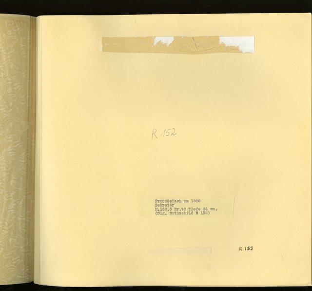 """Franz. um 1800: """"Sekretär"""" -  R 152: [Image not Included]"""