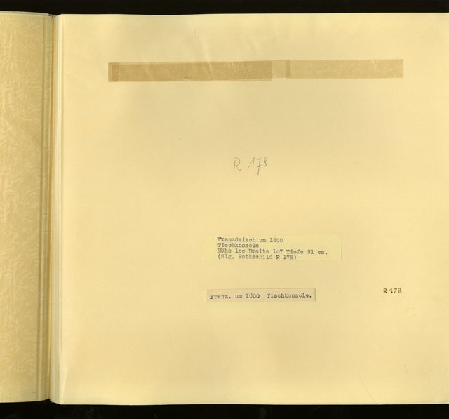 "Franz. um 1800: ""Tischkonsole"" -  R 178: [Image not Included]"