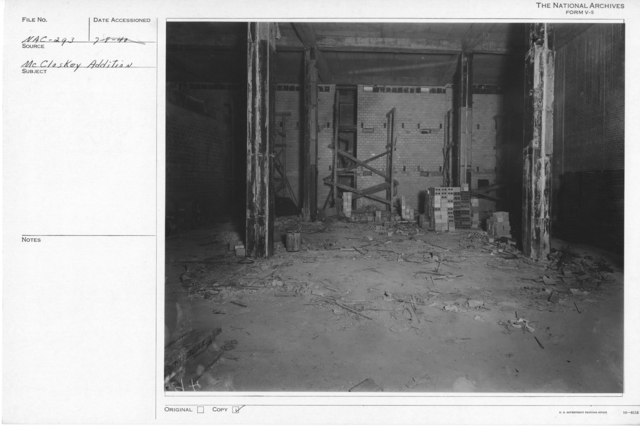 Photograph of Construction of a Stack Area in the National Archives Building