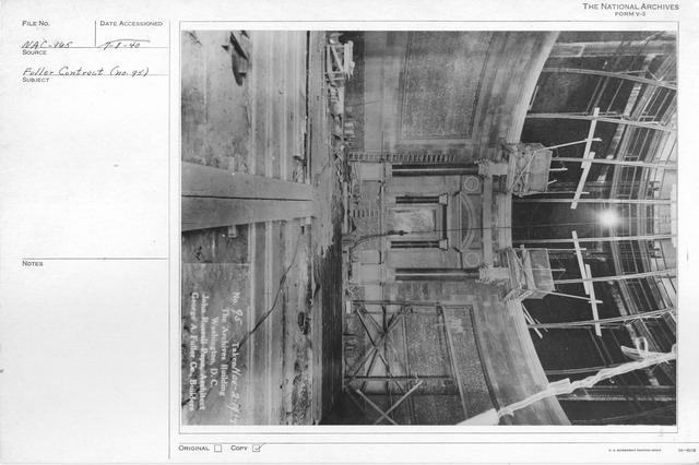 Photograph of Construction of the Rotunda in the National Archives Building, Washington, D.C.