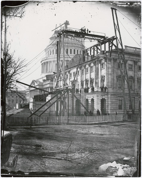 Photograph of the Capitol Building Under Construction in Washington, DC