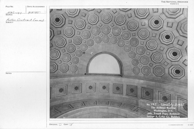 Photograph of the Ceiling of the Rotunda in the National Archives Building