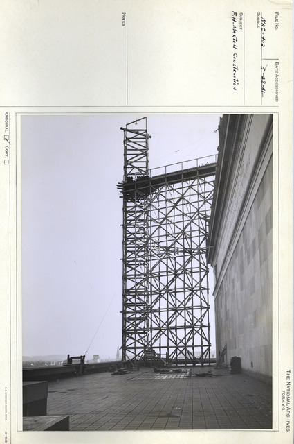 Photograph of the National Archives Building during Exterior Construction, Washington, D.C.