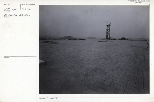 Photograph of the Roof of the National Archives Building