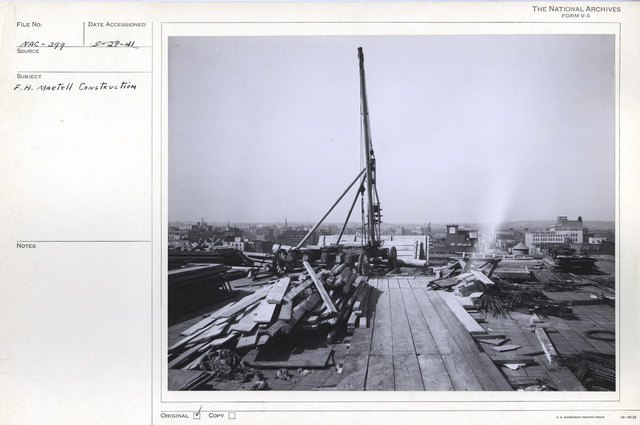 Photograph of the Roof of the National Archives Building during Construction, Washington, D.C.