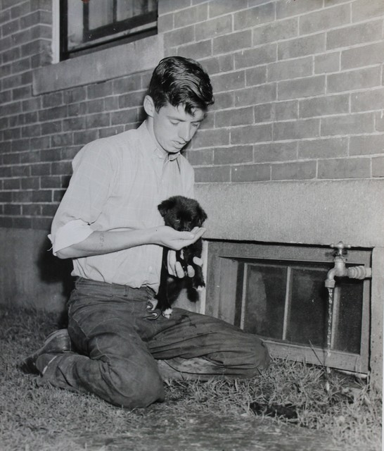Student Worker and Puppy