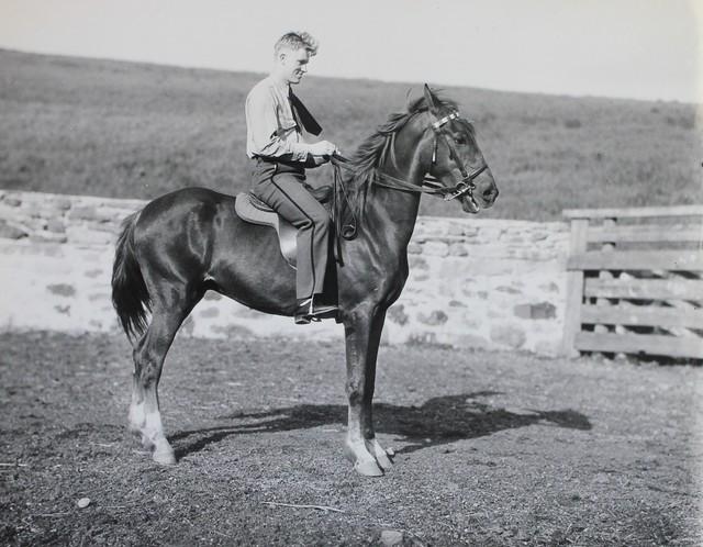 Student Worker on Horseback