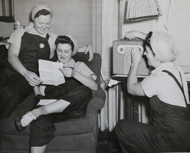 Three Young Workers in a National Youth Administration Dormitory