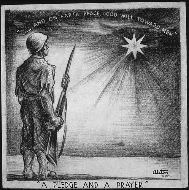 """A PLEDGE AND A PRAYER - AND ON EARTH PEACE, GOOD WILL TOWARD MEN"""