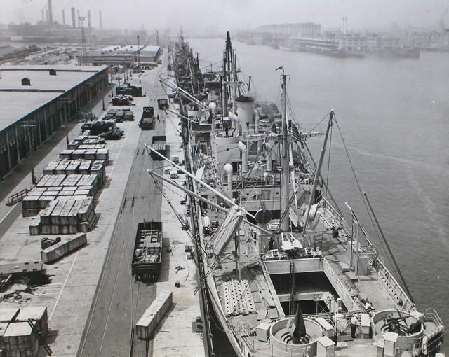 American Liberty Ships Line Boston Docks