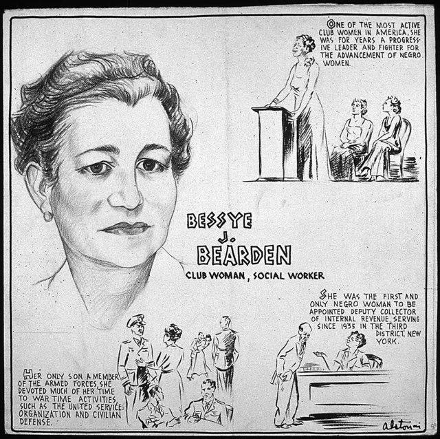 BESSYE J. BEARDEN - CLUB WOMAN, SOCIAL WORKER