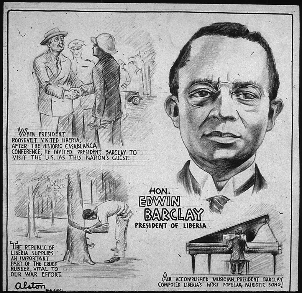 HON. EDWIN BARCLAY - PRESIDENT OF LIBERIA
