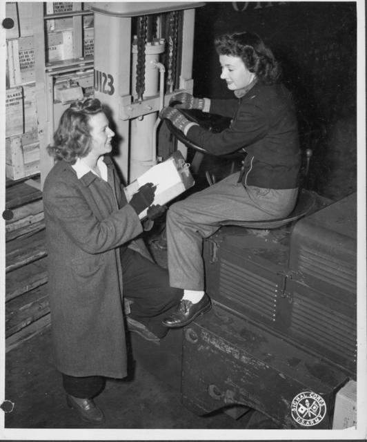 Two Women Working at the Boston Port of Embarkation