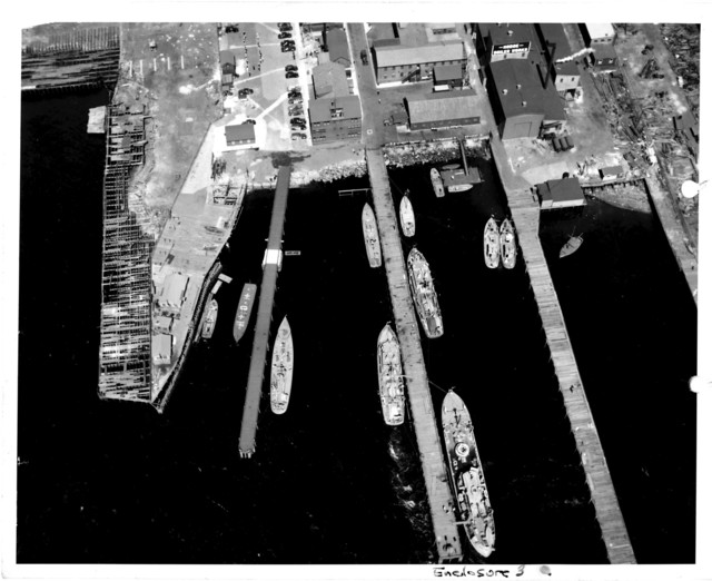 Aerial View of the Lockwood Basin at the Naval Air Station at Squantum, Massachusetts