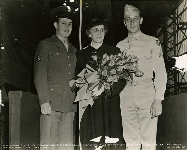 Mrs. Albert J. Fortier and Enlisted Sons