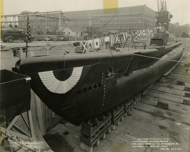 Bow View of the USS Bang