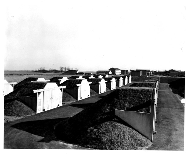 Completed High Explosive Magazines at the Naval Air Station at Squantum, Massachusetts