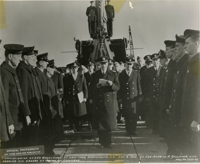 Commissioning of the USS Bang