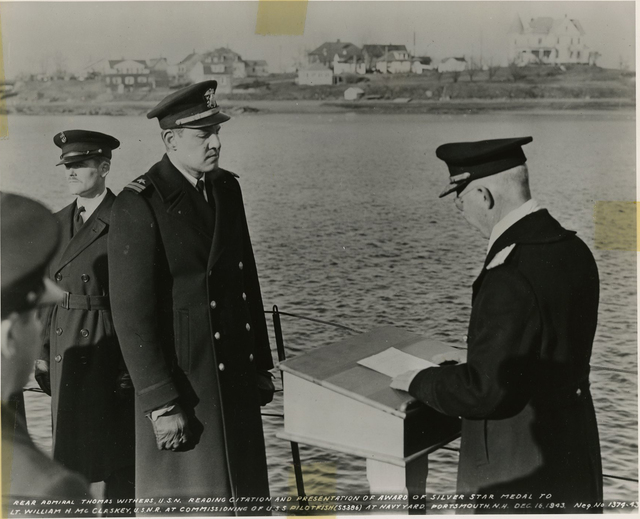 Presentation of the Silver Star to Lieutenant William H. McClaskey