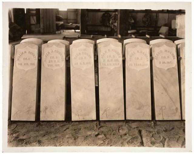 Photograph of Military Headstones