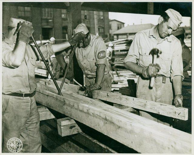 Italian Prisoner of War (POW) Lumber Salvage Workers