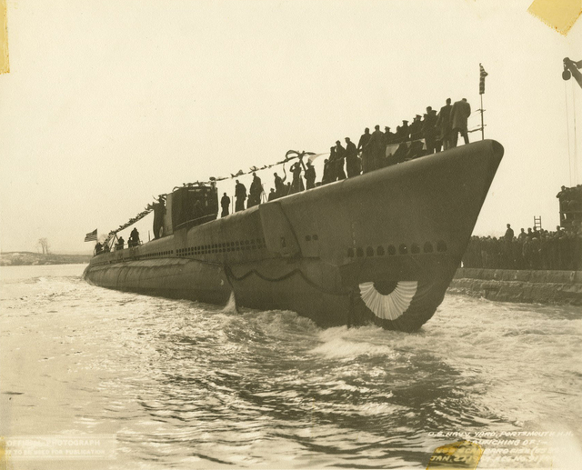 Launch of the USS Scabbardfish