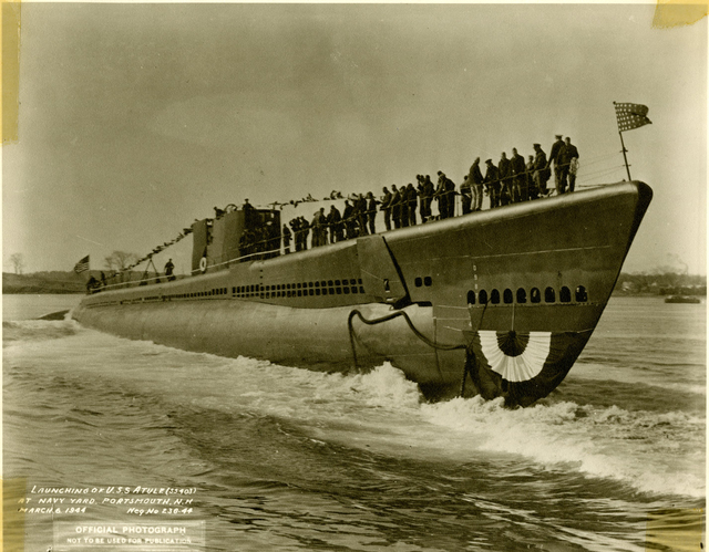 Launch of USS Atule at the Portsmouth Navy Yard