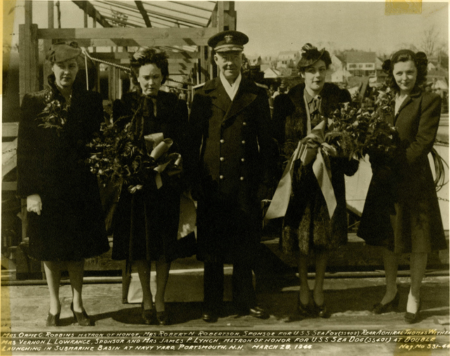 Mrs. Orme C. Robbins, Mrs. Robert N. Robertson, Rear Admiral T. Withers, Mrs. Vernon L. Lowrance, and Mrs. James P. Lynch