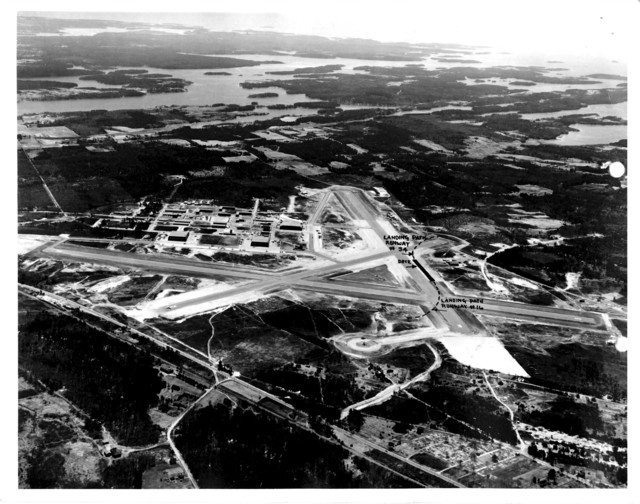 Aerial View of the Naval Air Station at Brunswick, Maine