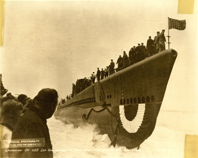 Launch of the USS Sea Owl