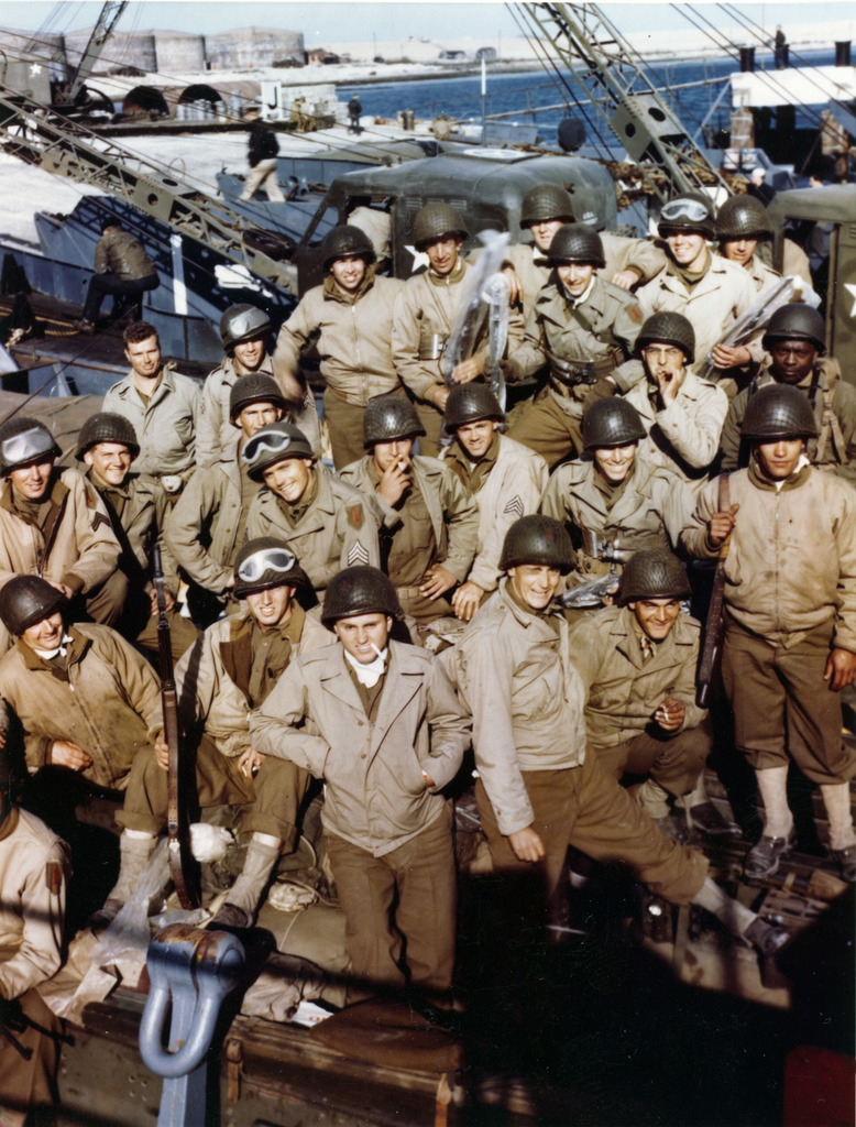 Photograph of American Troops on LCT Preparing for Normandy Invasion