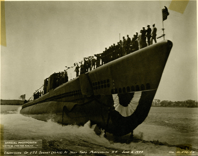 Launch of USS Sennet at the Portsmouth Navy Yard