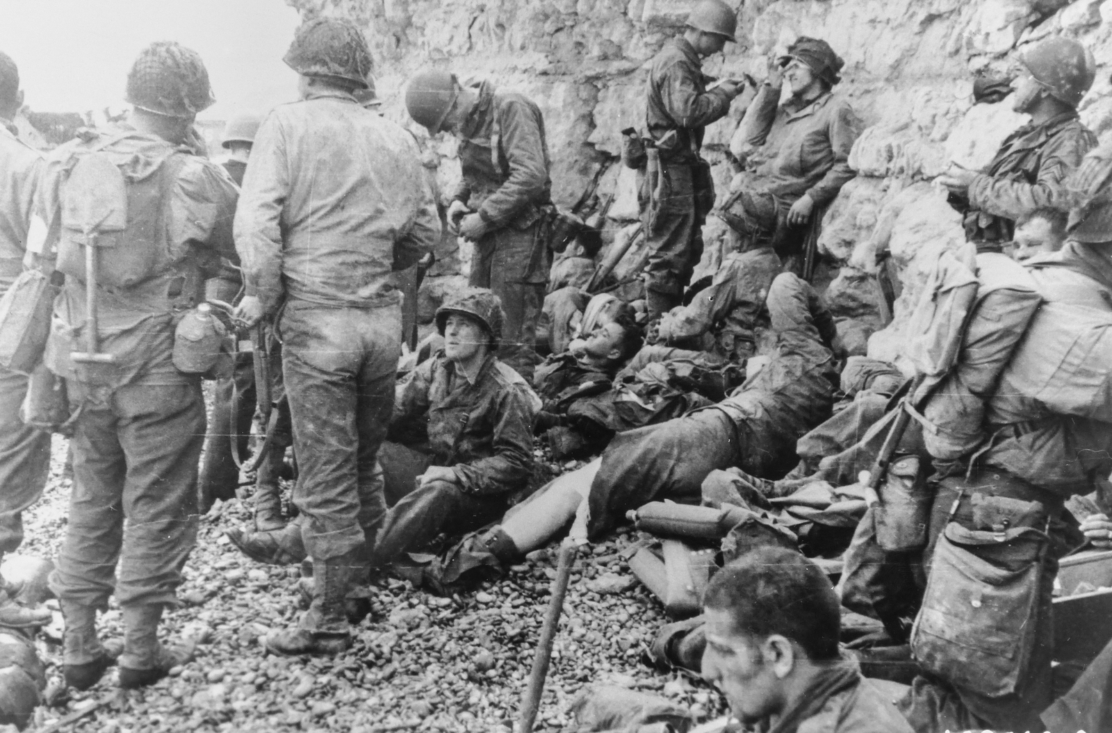 Photograph of a Large Group of American Assault Troops