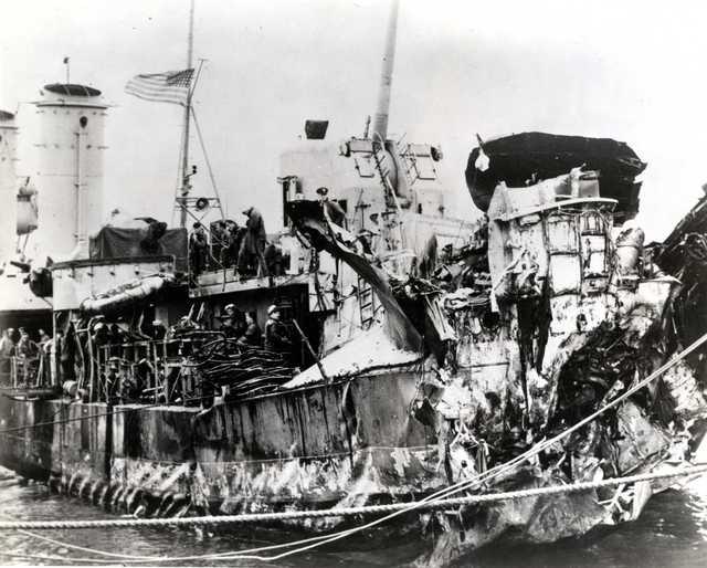 DD-623 USS Nelson Torpedo Damage