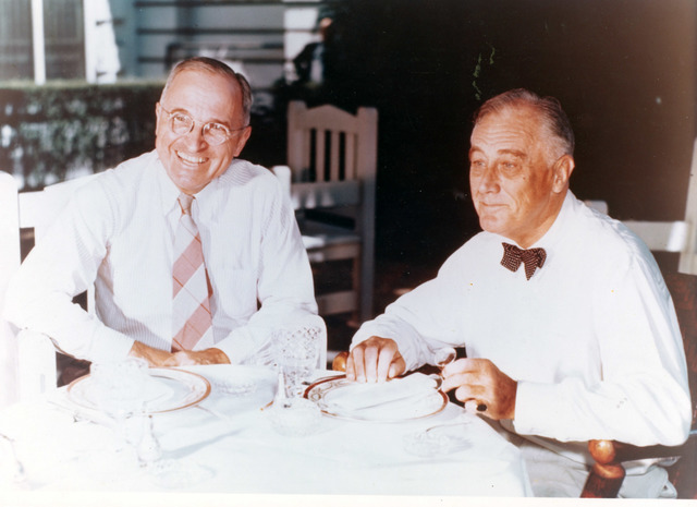 Senator Harry S. Truman at Lunch with President Franklin Roosevelt