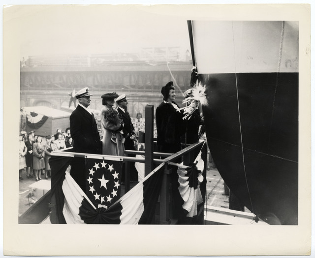 Rear Admiral Robert A. Theobald at APL-13 Launching