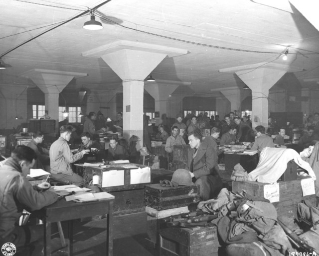 Photograph of Clerks of the 28th Infantry Division