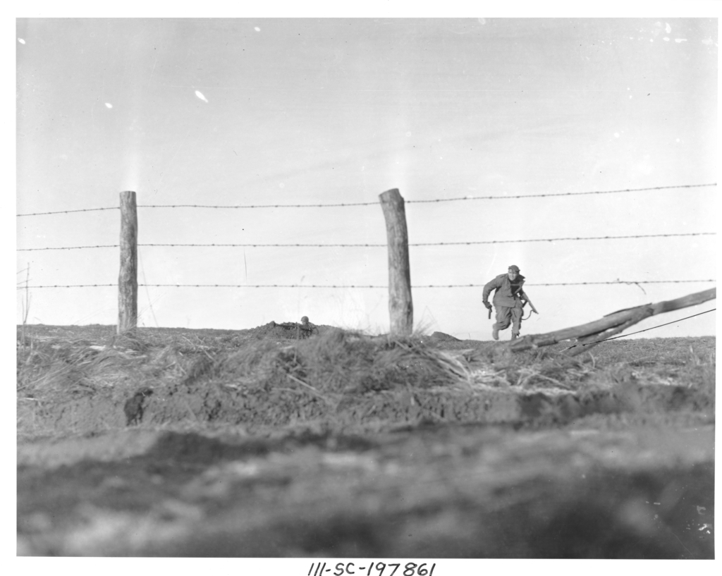 Photograph of an Infantryman Going Out on a One-Man Sortie
