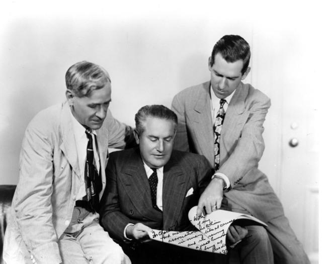 Charles Ross, Samuel I. Rosenman and Matt Connelly