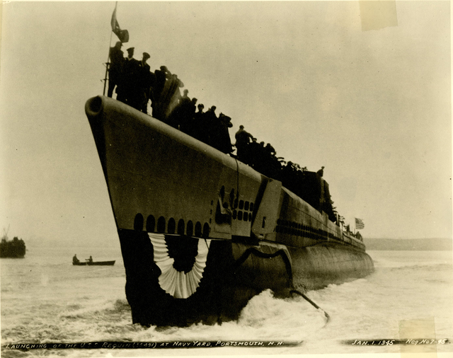 Launch of the USS Requin