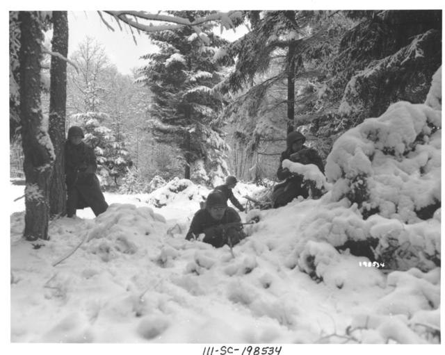 Photographs of American Infantrymen Near Amonines, Belgium