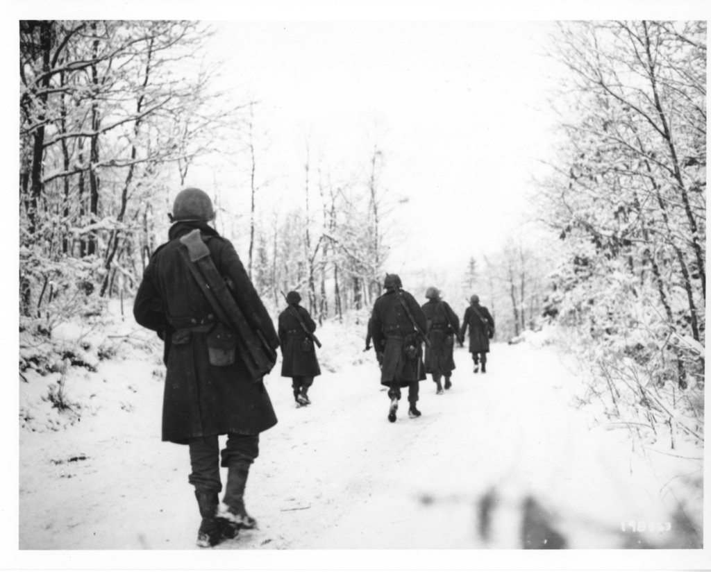 Photograph of American Soldiers of the 84th Division in Belgium