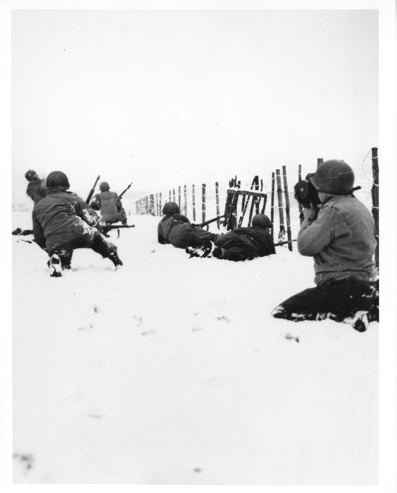 Photograph of a Patrol on the Outskirts of Beffe, Belgium